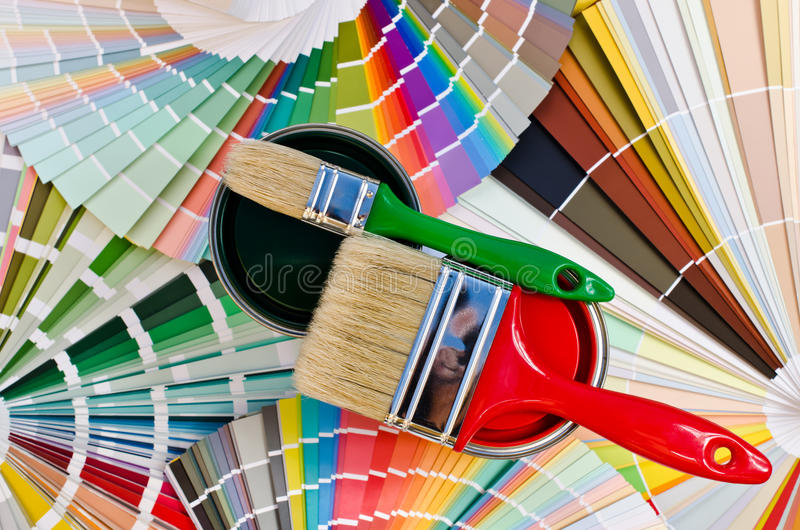 Download Red And Green Paint Sample. Stock Image - Image: 33583355