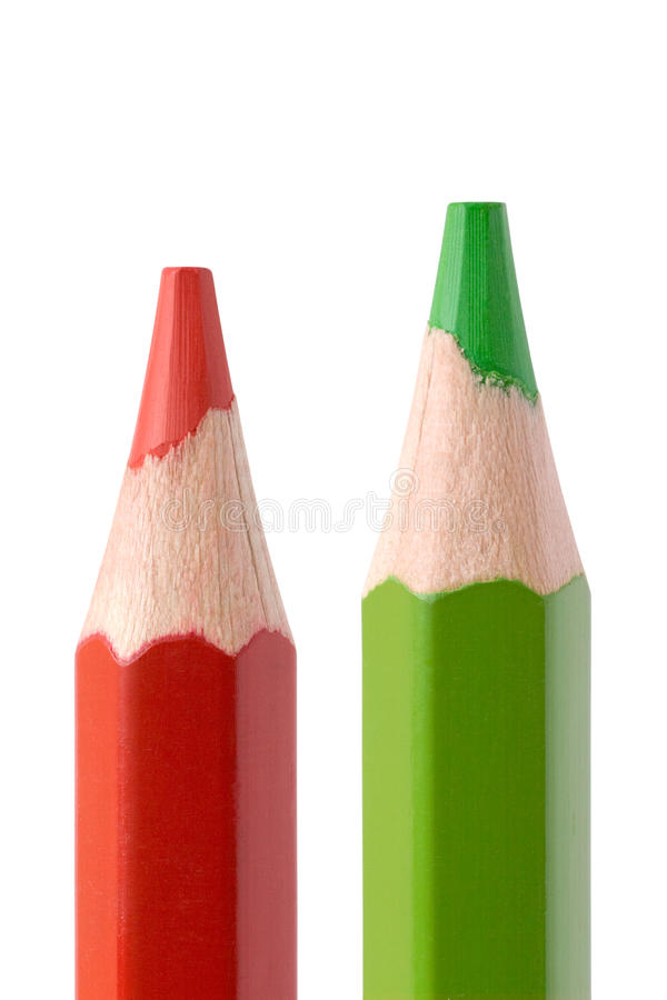 Red And Green Pencil Stock Image