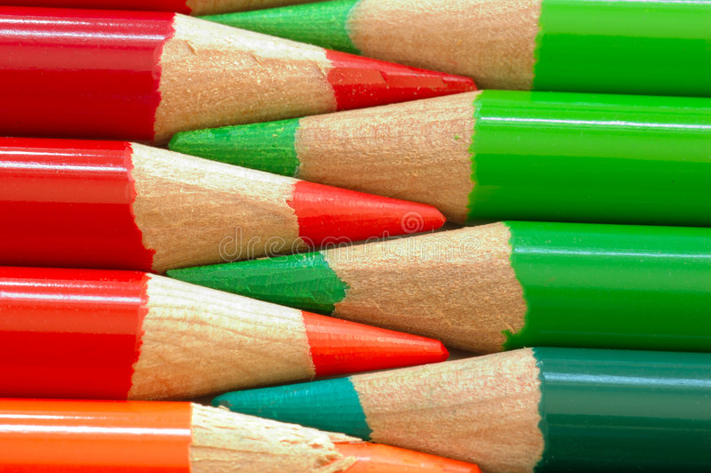Download Red And Green Pencils Royalty Free Stock Photography - Image: 524067