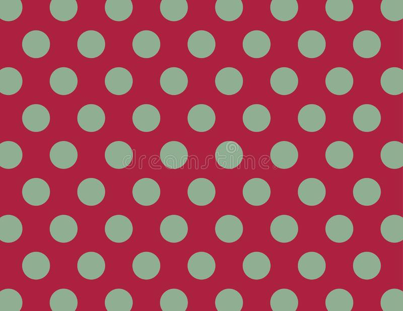 Red and Green Polka Dot Background. Red and Green Polka Dot Vector Background vector illustration