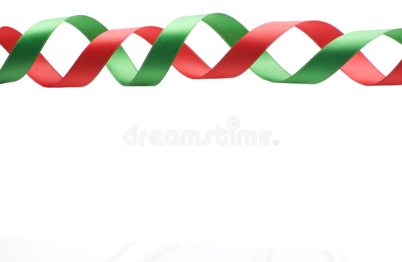 Download Red And Green Ribbon Border Stock Photo - Image: 6554670
