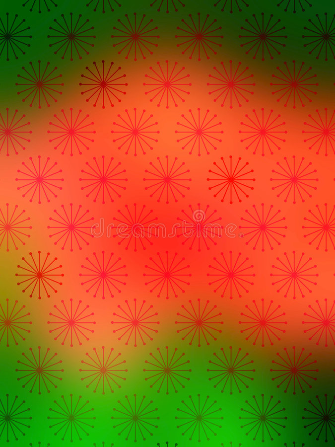 Free Red Green Snow Flakes Wallpaper Royalty Free Stock Image - 840856
