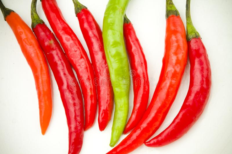 Download Red And Green Spicy Chili Peppers Stock Photo - Image of color, food: 17749060