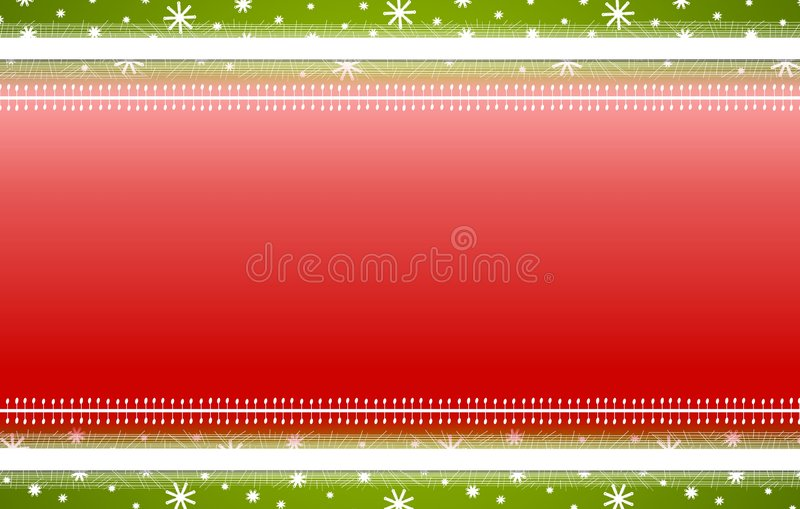 Red Green Stripes Snowflakes Christmas Background royalty free illustration