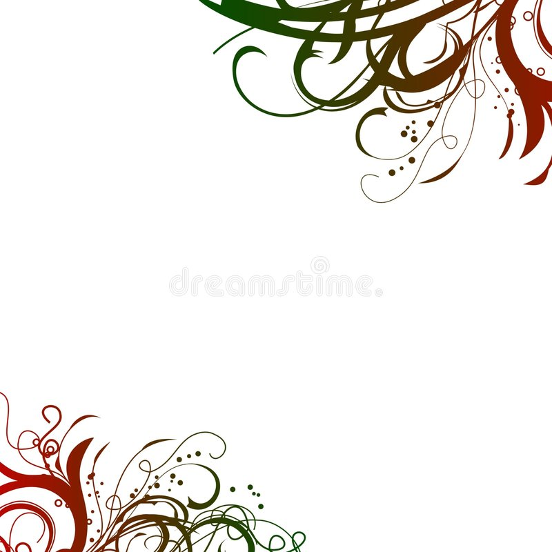 Red green swirls background stock photos