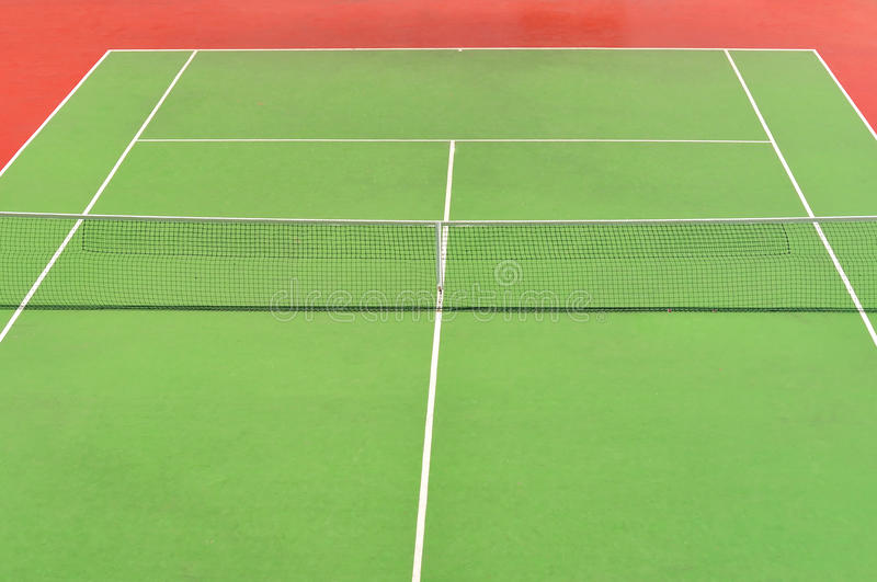 Download Red and green tennis court stock image. Image of active - 27814297
