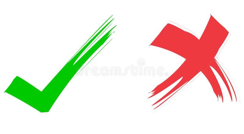 Red & Green Ticks royalty free illustration