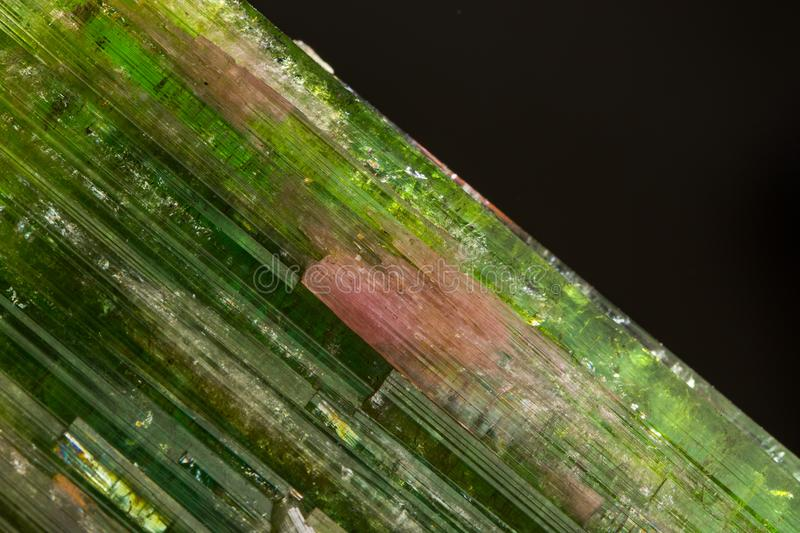 Red- green tourmaline from Kamar Mine, Mawi, Afghanistan. Red- green tourmaline from Kamar Mine, Mawi, Afghanistan royalty free stock image