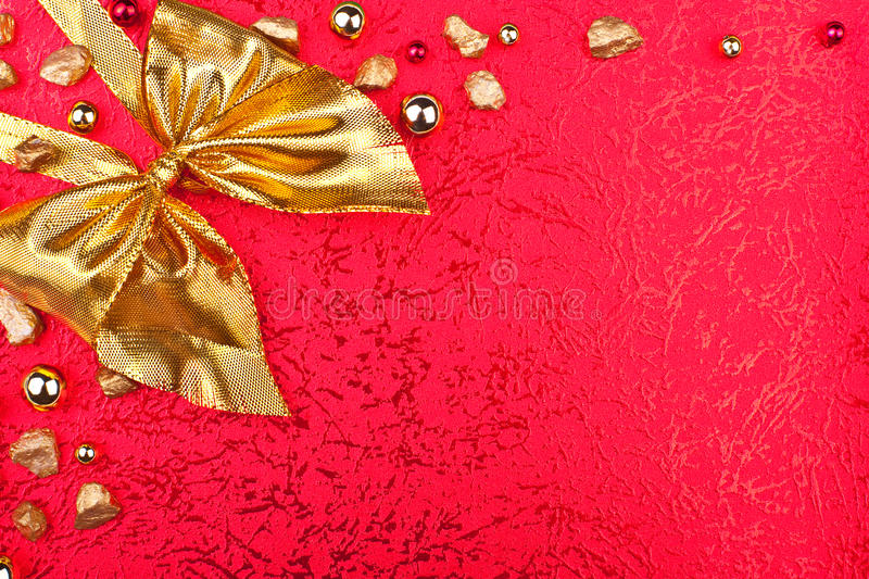Download Red Greeting Card With Golden Ribbon Stock Image - Image: 26233985