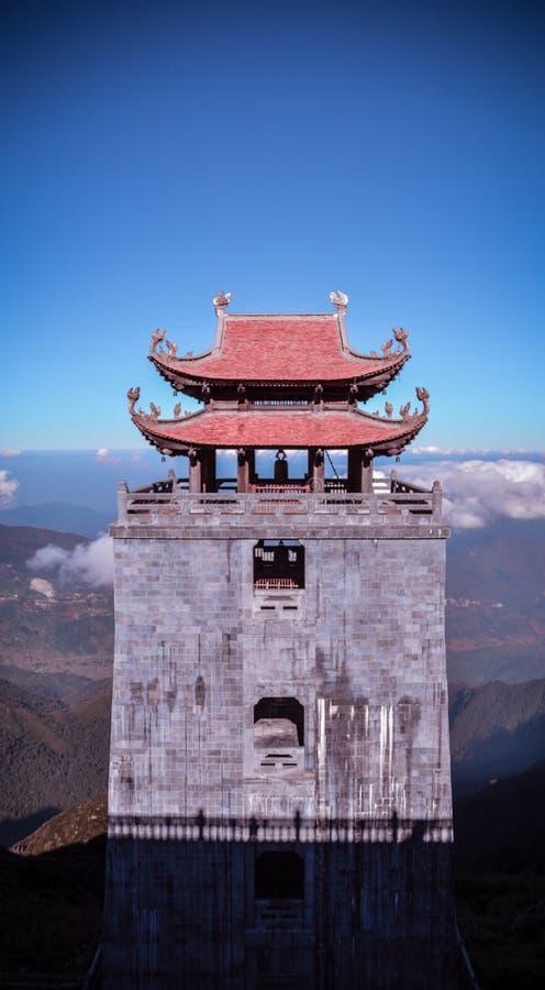 Red and Grey 2-storey Pagoda stock image