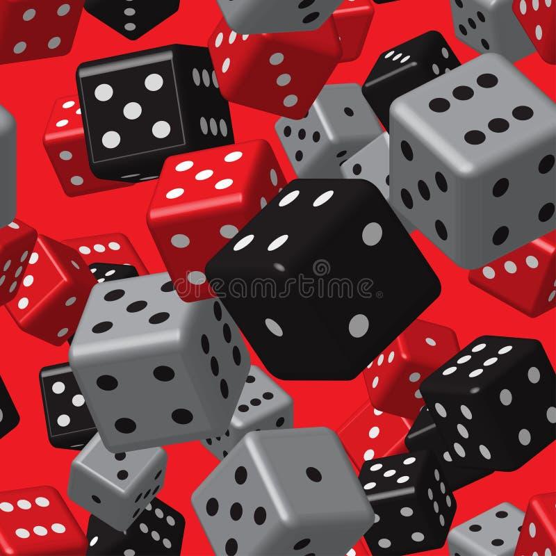 Free Red Grey Black Dice Seamless Pattern Stock Image - 107821351