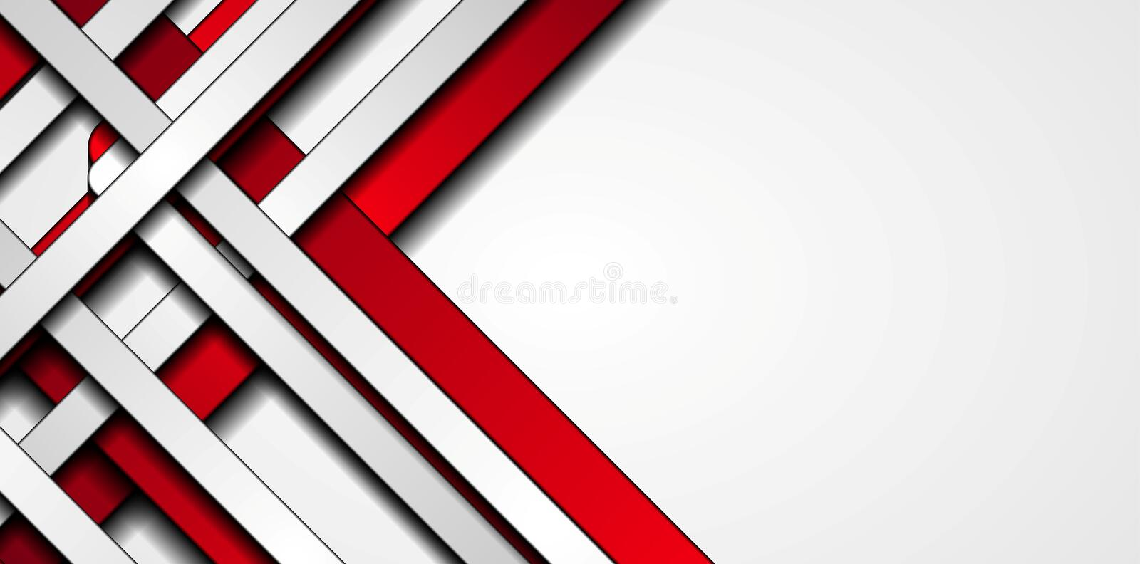 Red and grey stripes abstract tech background vector illustration