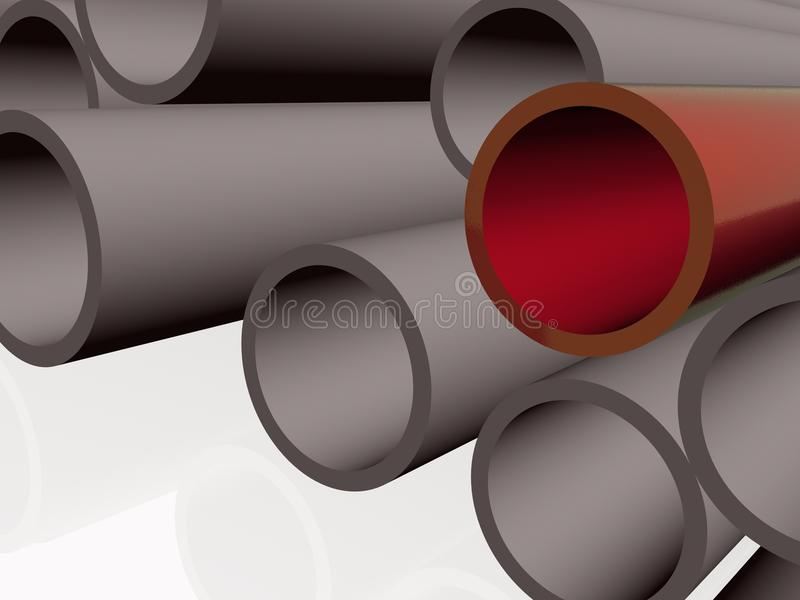 Red and grey pipes royalty free stock photography
