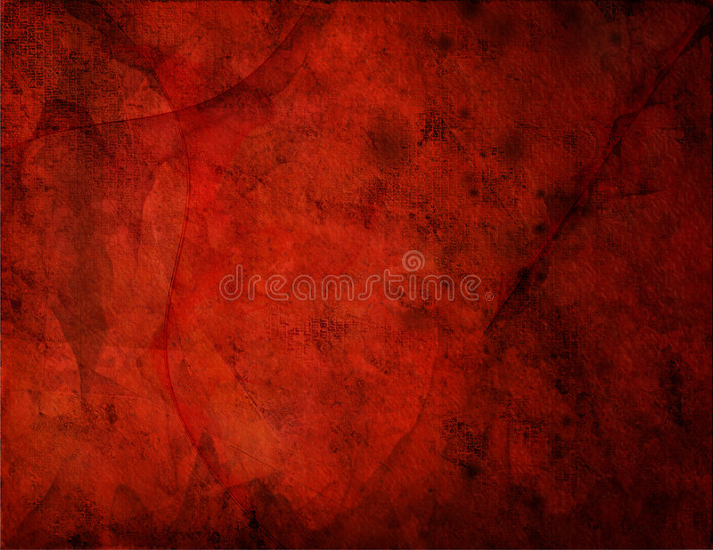 Red Grunge. Highly Textured Background