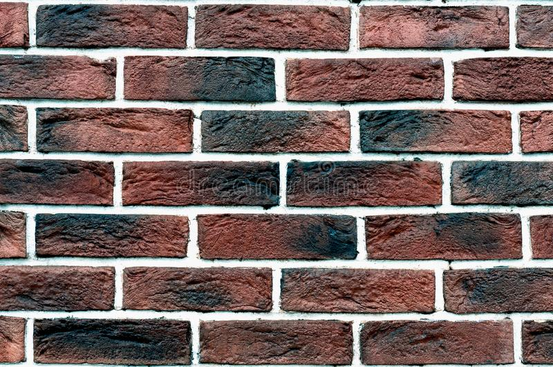Red grunge brick wall, abstract background texture with old dirty and vintage style pattern stock photos