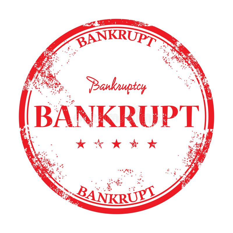 Bankrupt grunge rubber stamp royalty free stock photography