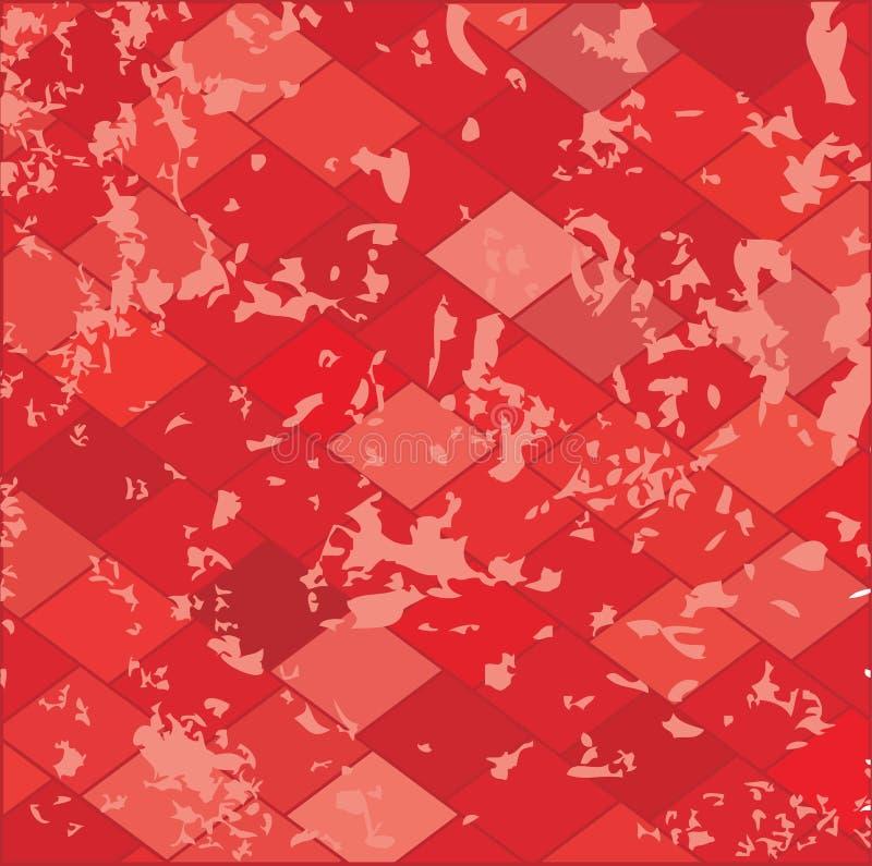 Red grunge textured.Vector.