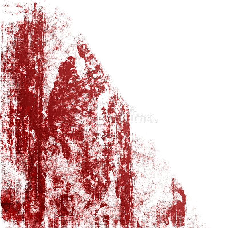 Download Red Grunge On White stock photo. Image of damaged, paint - 5182090