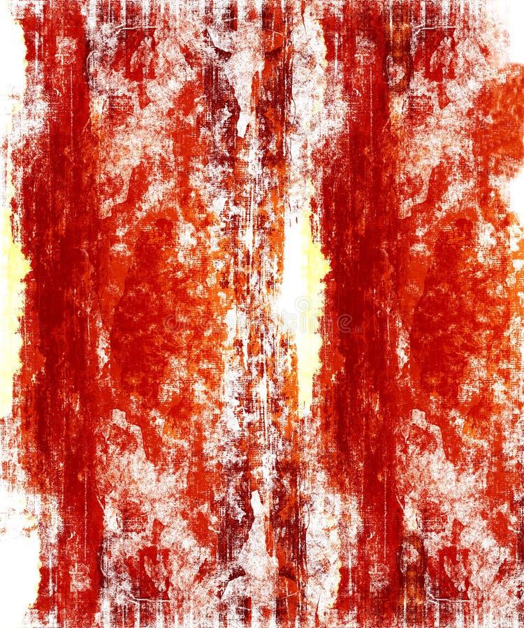 Red Grunge On White Stock Photos