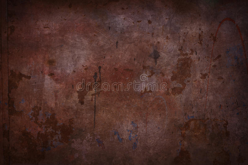 Red grungy wall. Background or texture stock image