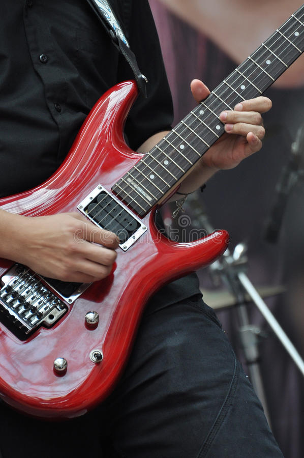 Download Red Guitar Royalty Free Stock Photography - Image: 13697167