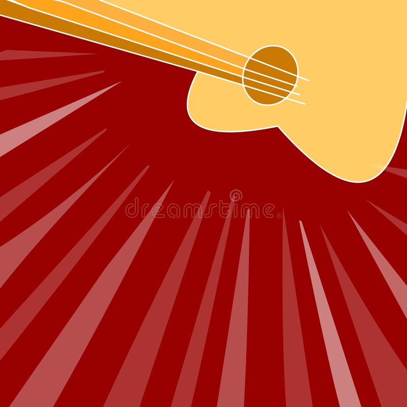 Red guitar background royalty free illustration