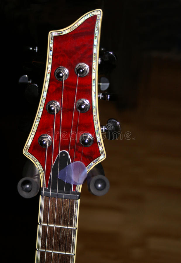 Download Red Guitar Headstock stock image. Image of tune, string - 12512463