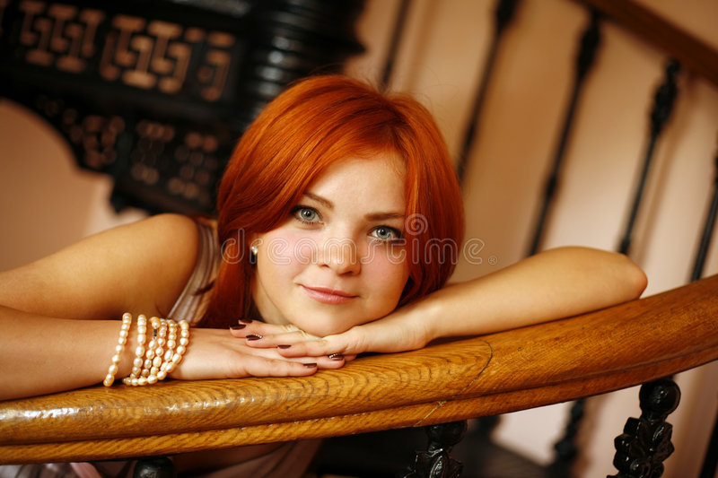 Red hair royalty free stock image