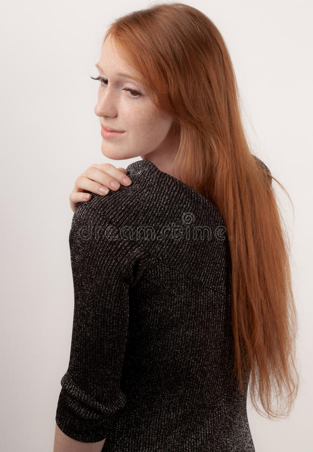 Download Red Hair and Sparkly Dress stock image. Image of adult - 32666885