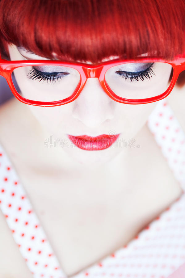 Download Red haired beauty stock photo. Image of color, funky - 16856890