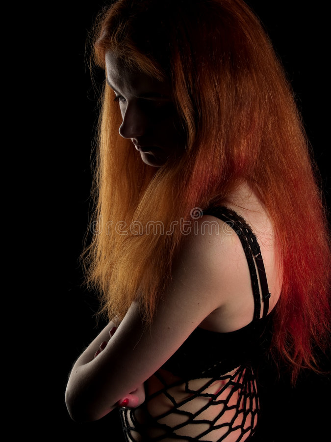 Red-haired Beauty Royalty Free Stock Photo