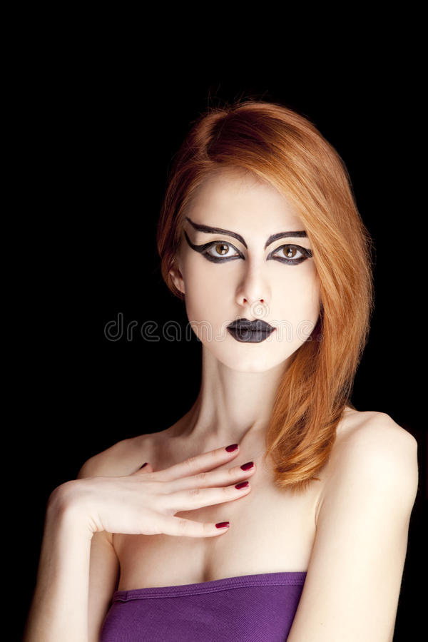 Red-haired Female Model Stock Image