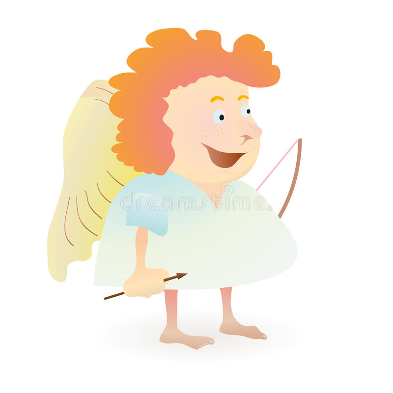 Download Red-haired funny angel stock vector. Illustration of symbol - 24329474