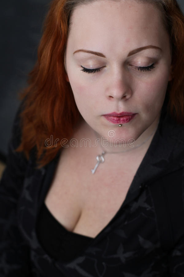 Download Red haired girl stock photo. Image of cute, haired, woman - 25038298