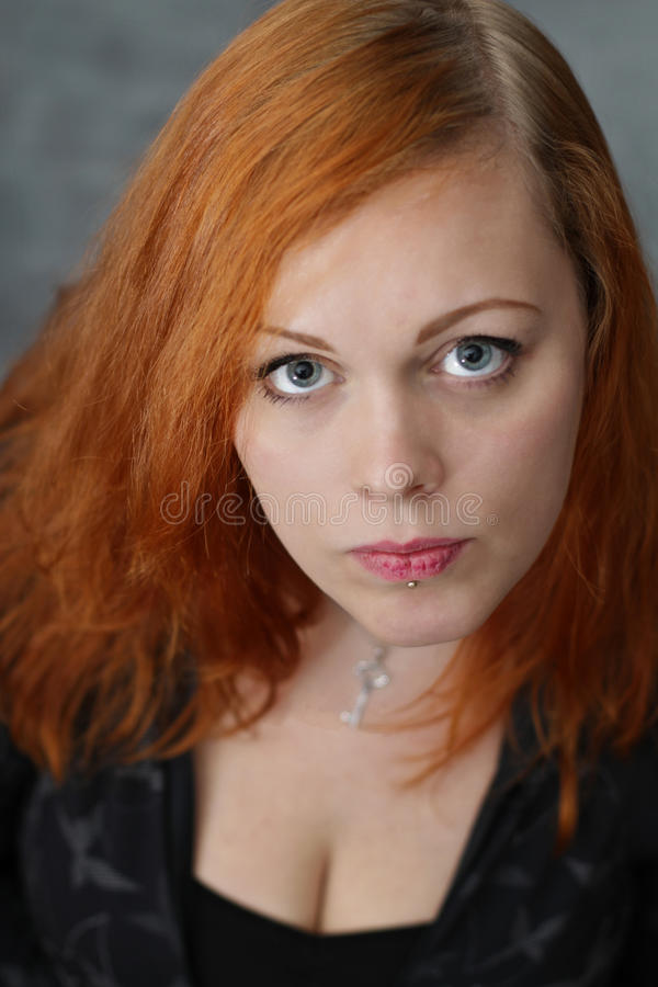 Download Red haired girl stock photo. Image of young, haired, facial - 25038736