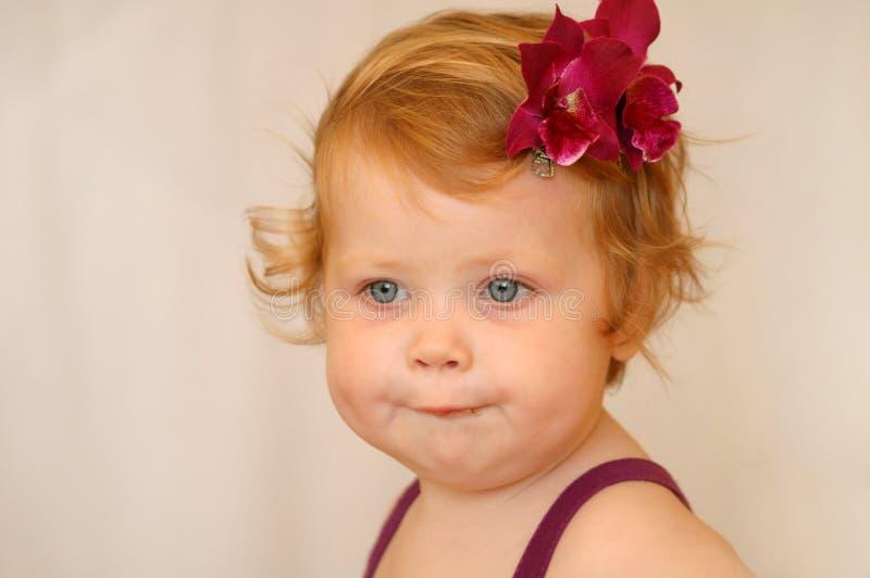 Red-haired Mädchen stockfoto