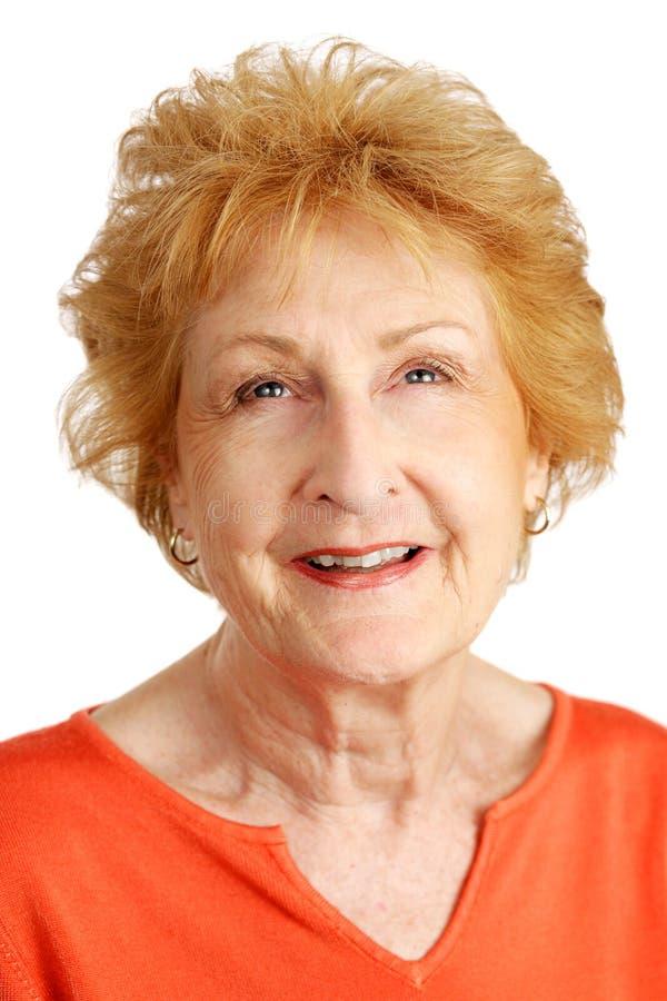 Download Red Haired Senior - Hopeful Stock Image - Image: 3242609