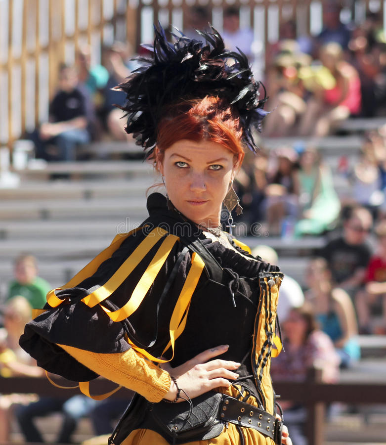 A Red Haired Wench at the Arizona Renaissance Festival royalty free stock photography