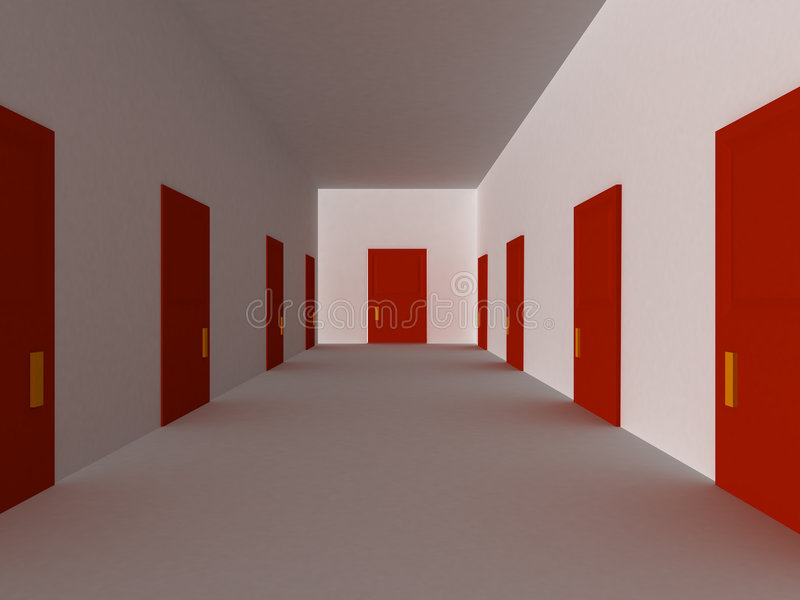 Download Red hallway stock illustration. Illustration of concepts - 7628512