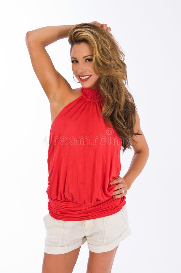 Red Halter Royalty Free Stock Photos