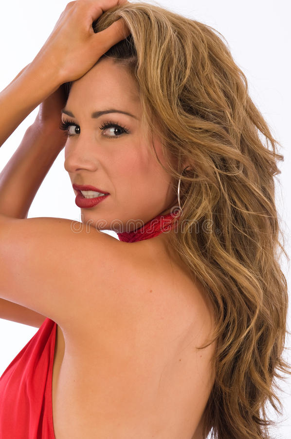 Download Red halter stock photo. Image of attractive, sleeveless - 13925648