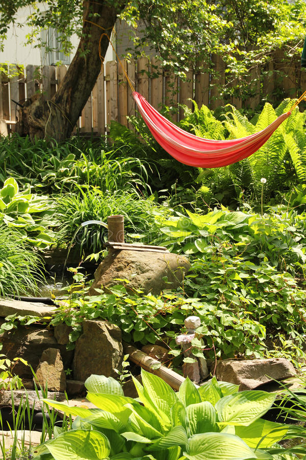 Red Hammock Stock Photos