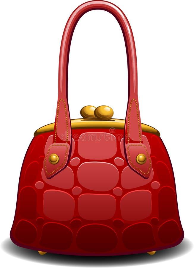 Red handbag. Over white. EPS 8 royalty free illustration
