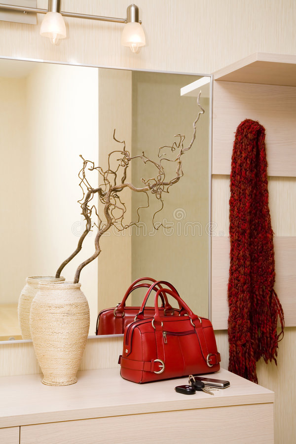 Red handbag royalty free stock image
