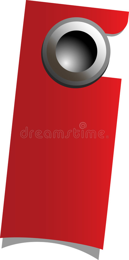 Download Red handle door stock vector. Illustration of files, hang - 8663026