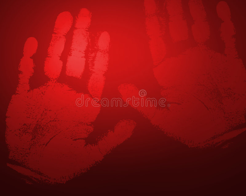 RED hands stock photo