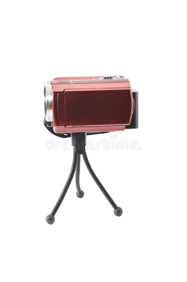 Download Red handycam stock image. Image of camcorder, entertainment - 32847343