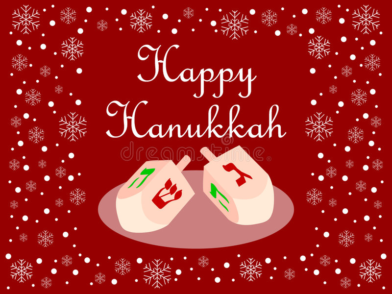 Download Red Happy Hanukkah Card Royalty Free Stock Images - Image: 3827079