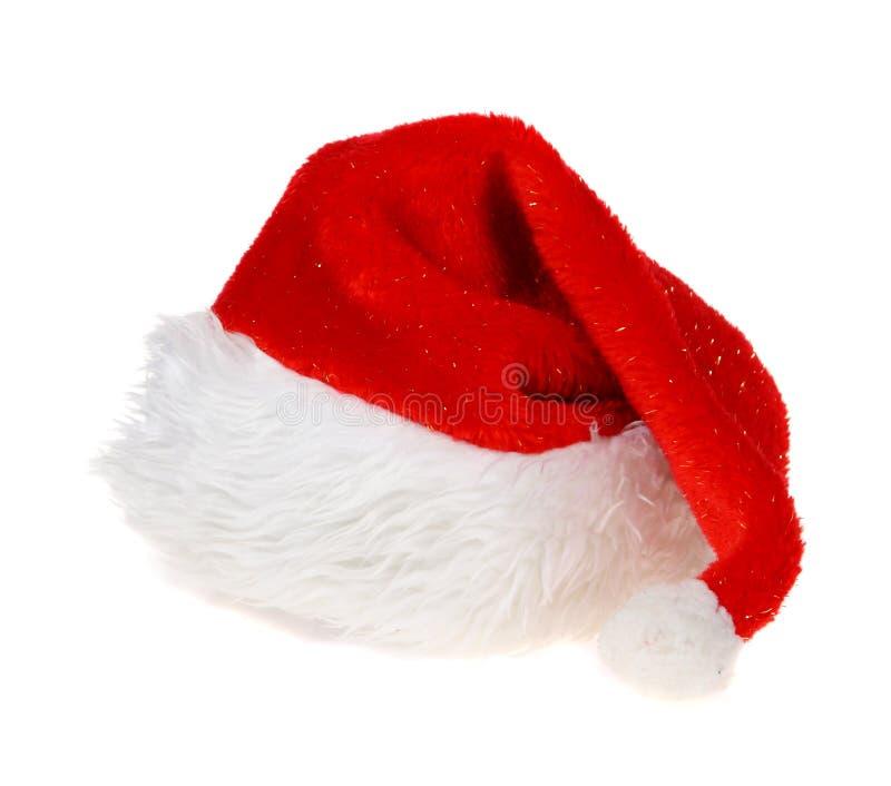 Red Hat Άγιου Βασίλη στο άσπρο υπόβαθρο στοκ εικόνες με δικαίωμα ελεύθερης χρήσης