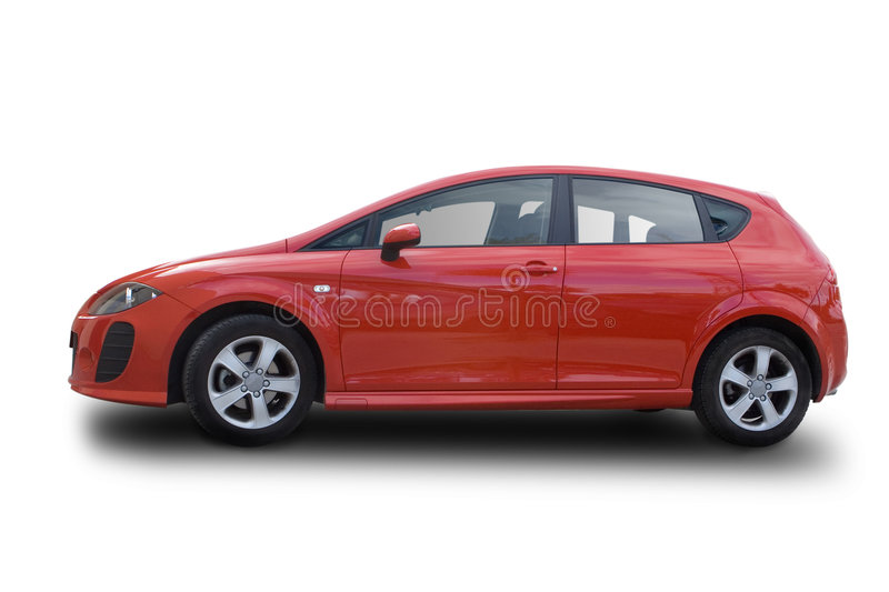 Download Red Hatchback Royalty Free Stock Photo - Image: 7425745